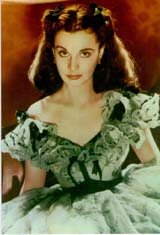 Vivien Leigh as  Scarlet O'Hara (90 kbytes) - Click to enlarge