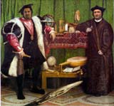 The Ambassadors by Holbein (90 kbytes) © National Gallery, London - Click to enlarge