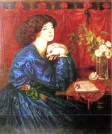 Kate Bush in Mrs William Morris (by Dante Gabriel Rossetti) (177 kbytes) - Click to enlarge