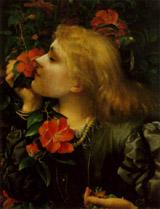 Ellen Terry in 'Choosing' by G F Watts, alternate version (202 kbytes) © National Portrait Gallery, London - Click to enlarge