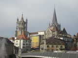 Lausanne, Spires (42 kbytes) - Click to enlarge