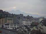 Lausanne, Drwarfed By Mountains (40 kbytes) - Click to enlarge