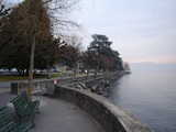 Lausanne, Looking Across The Pathway In Winter (48 kbytes) - Click to enlarge