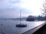 Zurich, Boat On The Lake (41 kbytes) - Click to enlarge