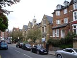 Hampstead shops and apartments (85 kbytes) - Click to enlarge