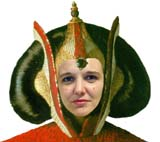 Jo as  Queen Amidala (66 kbytes) - Click to enlarge