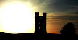 Broadway Tower Stylized Sunset (28 kbytes) - Click to enlarge