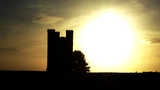 Broadway Tower Stylized Sunset 2a (26 kbytes) - Click to enlarge
